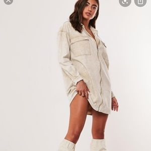 Missguided Utility denim shirt dress